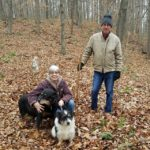 Mary and Dave and dogs